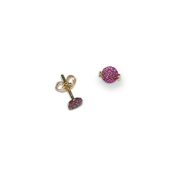 Pendientes de oro rosa y rubies