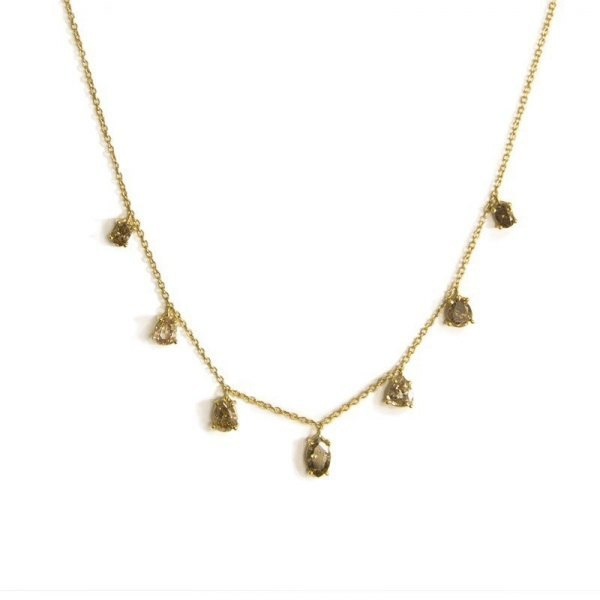 Gargantilla de charms de diamante brown 1,54 ct